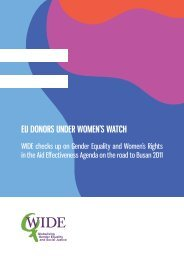 EU donors UndEr WomEn's Watch - Gender Responsive Budgeting