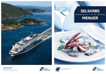 SELSKABS MENUEr - DFDS Seaways
