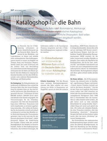 Bestellprozess bei der Deutschen Bahn - SupplyOn