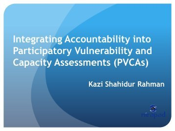 Integrating Accountability into Participatory Vulnerability and ...