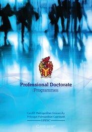 Professional Doctorate - Cardiff Metropolitan University