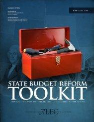 State Budget Reform Toolkit - American Legislative Exchange Council