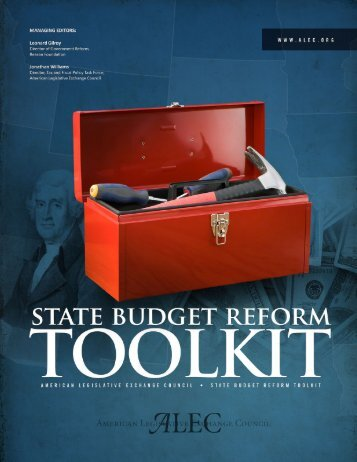 State Budget Reform Toolkit - American Legislative Exchange Council