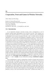 11 Cooperation, Trust and Games in Wireless Networks