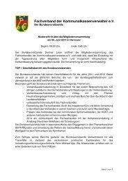 Niederschrift Mitgliederversammlung 2013 - kassenverwalter.de