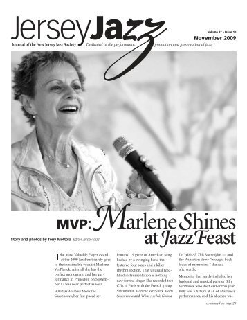MVP:MarleneShines - New Jersey Jazz Society