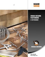 Swan Secure Fasteners - Simpson Strong-Tie