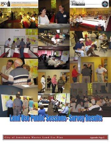 Land Use Survey Results - City of Jonesboro