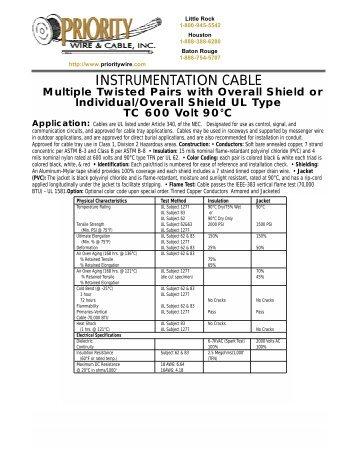 Priority Wire And Cable Birmingham Al - WIRE Center •
