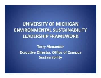 university of michigan environmental sustainability leadership ...