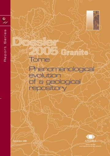 Tome Phenomenological evolution of a geological repository - Andra