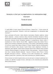 Verbale incontro 3/4/2009 - Urban Center - Comune di Genova