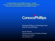 Advanced Drilling: A Technology Focus Area for ConocoPhillips