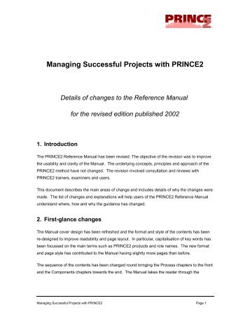Managing Successful Projects with PRINCE2 - Best Management ...