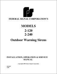 Model 2 Manual - Federal Signal