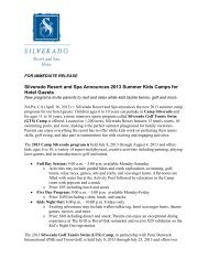 Silverado Resort and Spa Announces 2013 Summer Kids Camps for ...