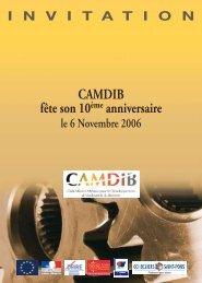 CAMDIB fête son 10ème anniversaire - France Clusters