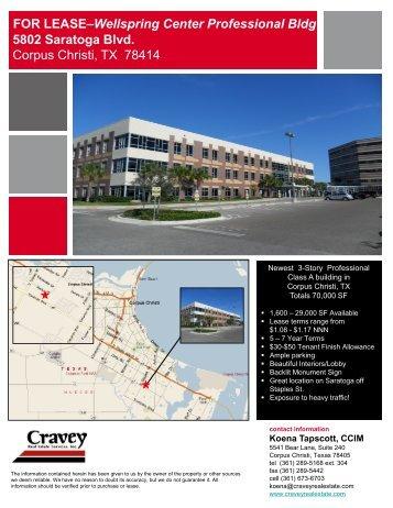 FOR LEASE–Wellspring Center Professional Bldg ... - Gisplanning.net