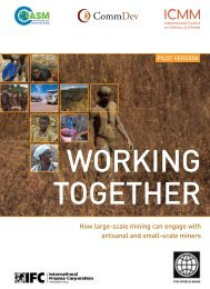 Working Together: How large-scale mining can engage ... - CommDev