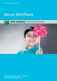Broschüre Bonus Zertifikate - BNP Paribas
