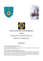 Caccia al Tesoro Vigevano Nascosta Vigevano, 18 maggio 2013