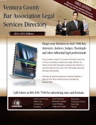 Download media kit - Ventura County Bar Association
