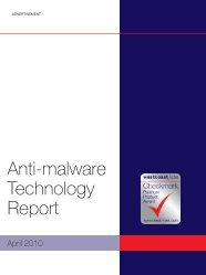 Anti-malware Technology Report - West Coast Labs