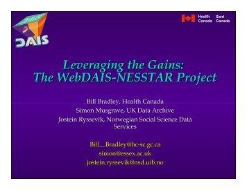 Leveraging the Gains - Data Documentation Initiative