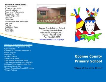School Brochure - Oconee County Schools