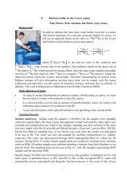8. Radium studies in the Crozet region Paul Morris, Peter Statham ...