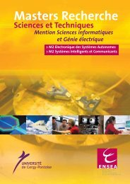 Brochure des Masters Recherche SIC et ESA - ENSEA