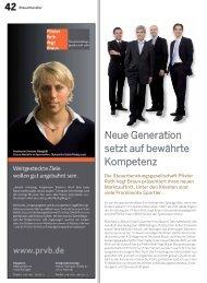 42 Neue Generation setzt auf bewährte Kompetenz - Pfister Roth ...