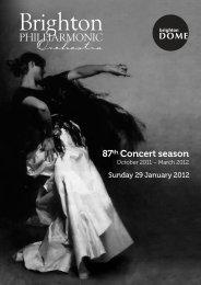 87th Concert season - Brighton Philharmonic Orchestra