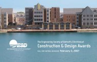Construction & Design Awards - ESD