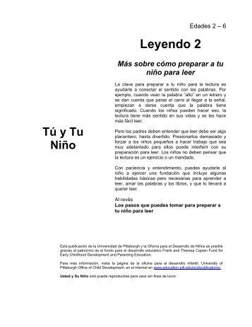 Leyendo 2 - Office of Child Development - University of Pittsburgh