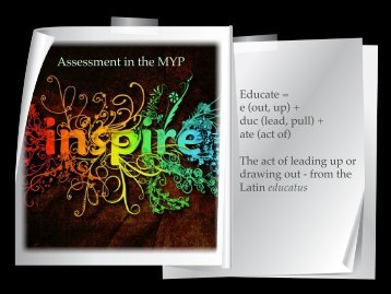 MYP Assessment and Report Cards for Parents 2012 - Lincoln ...