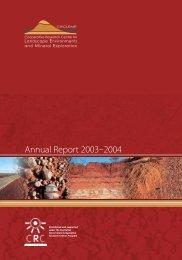 Annual Report 2003–2004 - CRC LEME