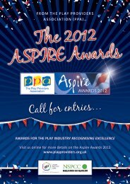 ASPIRE - Call for Enties Brochure - The Play Providers Association