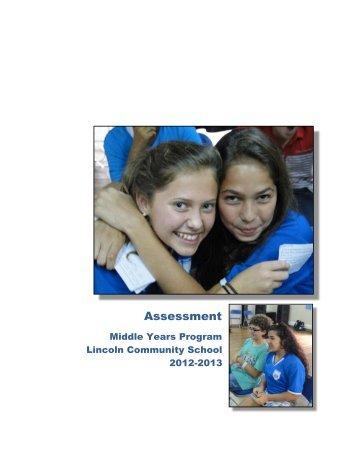 MYP Assessment Handbook V2 - Lincoln Community School