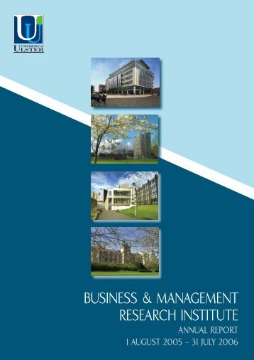 BUSINESS & MANAGEMENT REPORT.indd - Research - University ...