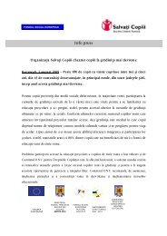 Info press - Salvati Copiii