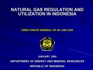 NATURAL GAS REGULATION AND UTILIZATION IN INDONESIA