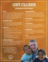 International Volunteer Program Fact Sheet - Friends of the Orphans