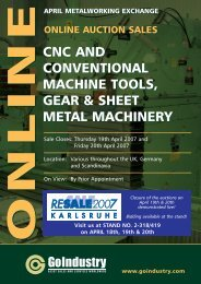 CNC AND CONVENTIONAL MACHINE TOOLS, GEAR & SHEET ...