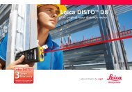 Leica DISTO™ D8 - MBS Survey Software Ltd.