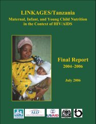 LINKAGES/Tanzania Final Report - Linkages Project