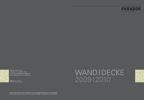 Parador Wand Decke 2010 - Becher