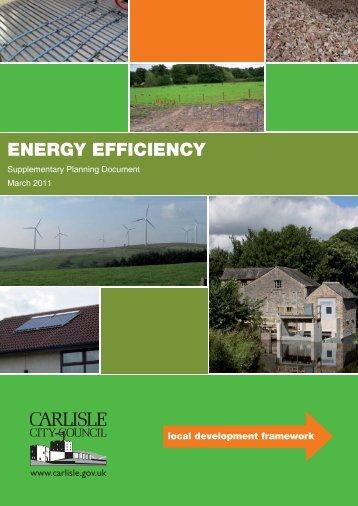 Energy Efficiency SPD in PDF format - Carlisle City Council