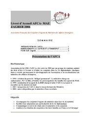 AFCA MAE Association Livret des comprimé Française Liban POXkTiuZ