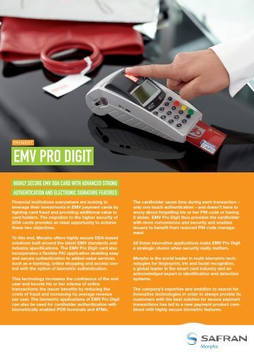 EMV Pro Digit brochure - Morpho